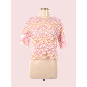 ZARA- Floral Lace Top  Size medium